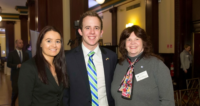 Sheila Cassidy, Ben English and Ellen Motley at Ireland Day in the NYSE