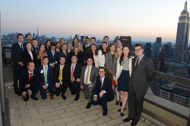 Washington Ireland Program Class of 2015 Consulate General of Ireland reception NYC June 29, 2015 Photo: James Higgins © 2015